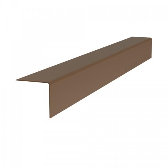 PLASTIC ANGLE PROFILE 30x30 DARK BROWN 280cm